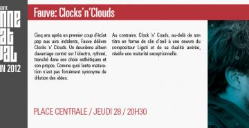 Fauve: Clocks'n' Clouds