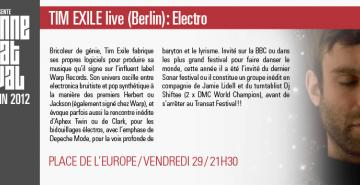 TIM EXILE live (Berlin) : Electro