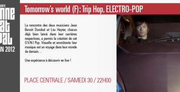 Tomorrow's world (F) : Trip Hop, ELECTRO-POP